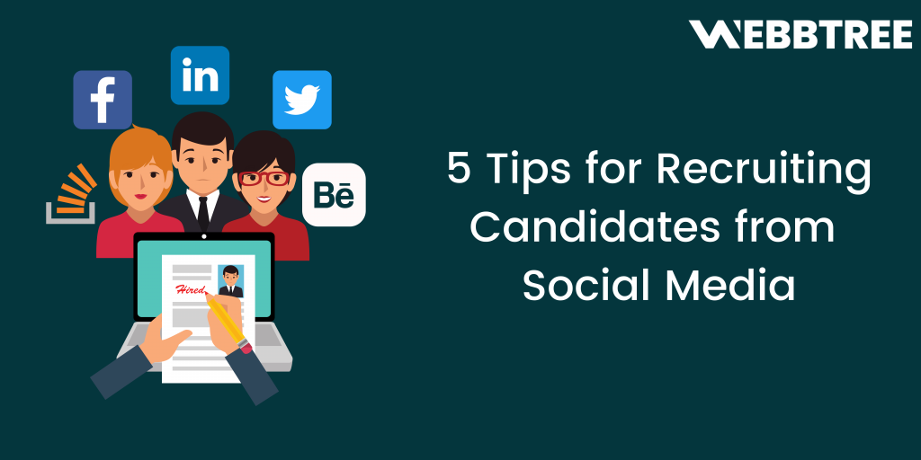 Banner image -5 tips for recruiting candidates from social media